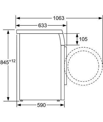 Lavadora carga frontal 8kg a+++ Bosch WUU28T6XES (1400rpm) inox - 86231717_6776753242