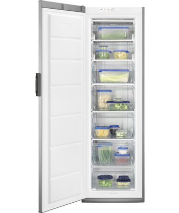 Congelador vertical inox a+ Zanussi zuan28fx (1860x595x635) - ZANZUAN28FX