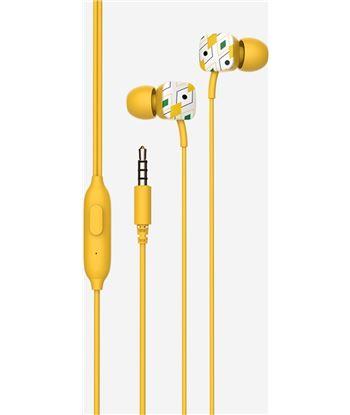 Auriculares intrauditivos Spc hype amarillo - micrófono integrado - botón m 4603Y - 4603Y