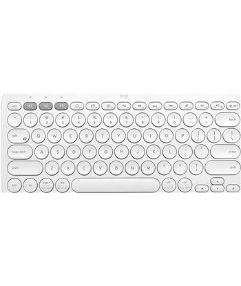Teclado compacto inalámbrico por bluetooth Logitech k380/ blanco 920-009588 - LOG-TEC 920-009588