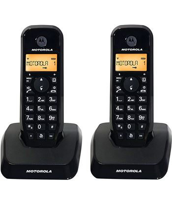Motorola s1202 negro duo teléfono inalámbrico manos libres 50 contactos S1202 DUO NEGRO - +98465