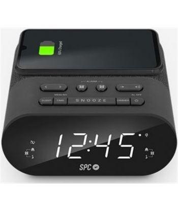 Despertador Spc frodi qi/ radio fm/ base de carga inalámbrica 4587N - SPC-DES 4587N