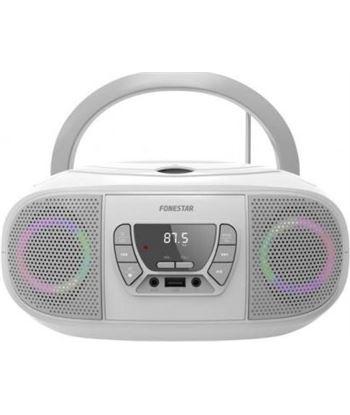 Fonestar BOOM-GO-B radio cd blanco - 4w rms - bluetooth - fm - usb/mp3 - au - FONE-CD BOOM-GO-B
