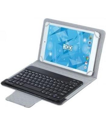 3go CSGT28 funda universal con teclado negro/gris para tablets 10''/25.4cm - - 3GO-FUNDA CSGT28