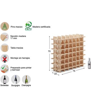 Astigarra botellero evolutivo rioja para 36 botellas pino macizo ga 8422341700074 - 75264