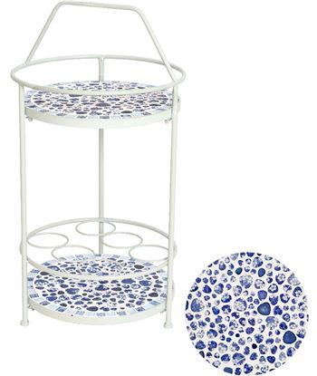 Iron mesa auxiliar botellero mosaico modelo paros exterior 40x76cm 8719152693566 - 83277