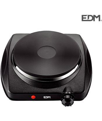 Edm cocina electrica negra 1.400w 1 fuego ce/a13 8425998076585 - 07658