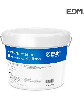 Edm pintura plastica mate interior blanca 4l 8425998254006 - 25400