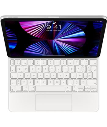 Apple MJQJ3Y/A magic keyboard para ipad pro 11'' 3 y 4 generación/ español/ blanco - MJQJ3YA