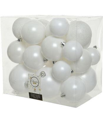 Decoris caja de 26 bolas blancas varios tamaños 8720093089592 - 72205