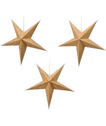 Decoris estrella de papel con luz 60cm 8718533910940 - 72224