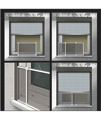Schellenberg mosquitera marco extensible blanco medidas: 50x75-142cm 4003971508106 - 75881 #19