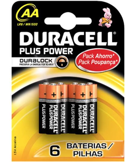 Pilas Duracell plus power aa(lr06)4+2kp alcalinas lr06plus4_2kp