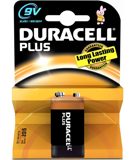 Duracel pila braun 9vmn1604plus, alcalina, 1 und., 6lr61 mn1604k1 - 9VMN1604PLUS
