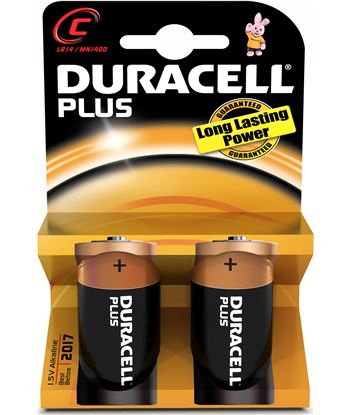 Pilas alc. Duracell (lr14) plus power 2kp mn1400k2