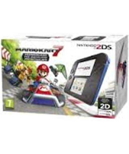 Nintendo consola 2ds hw negraire acondicionado zul + mario kart 7 2205099 nin2205099 - 2205099