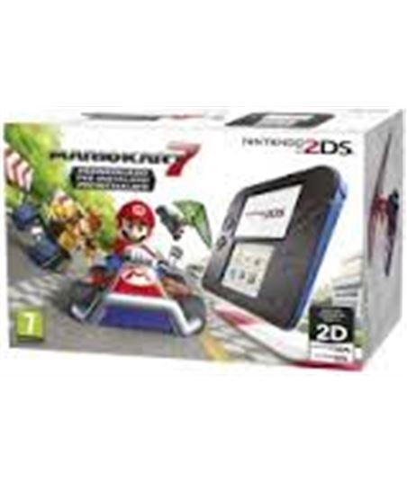 Nintendo consola 2ds hw negraire acondicionado zul + mario kart 7 2205099 - 2205099