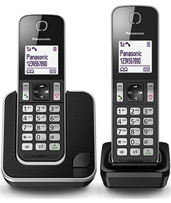 Panasonic telefono inalambrico pack 2 dect kxtgc312spb duo negro