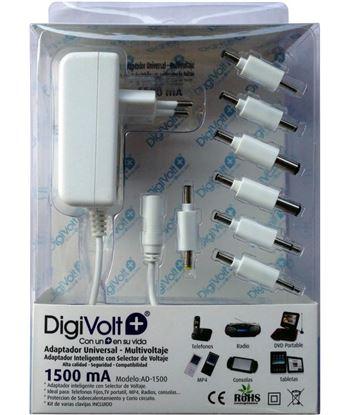 Digivolt adaptador multi voltaje/clavija 1500a(50 ad1500 - AD-1500