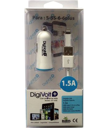 Digivolt QC-2408 caragdor coche+cable ip5/6 1500a 2408 qc2408 - QC-2408