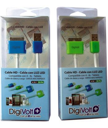 Digivolt cable hd con led para ip4 8204l (200) cb8204l