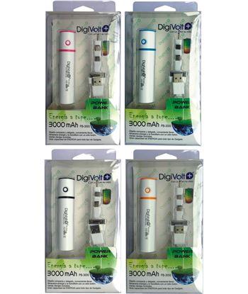 Digivolt PB-3000 power bank 3000 mah con cable 3 en 1(96) pb3000 - PB-3000