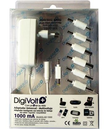 Digivolt AD-1000 adaptador multi voltaje/clavija 1000a(50 ad1000 - AD-1000