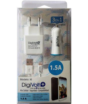 Digivolt I6 cargador 1.5a 3en1 para movil 5/6(100 Ofertas - I6