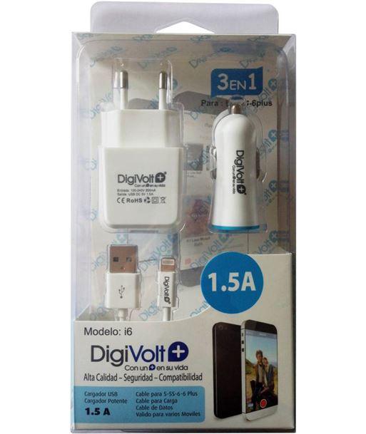 Digivolt cargador i6 1.5a 3en1 para movil 5/6(100 Accesorios - I6