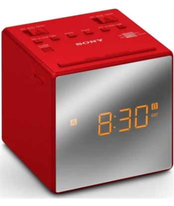 Sony radioreloj ICFC1TR rojo