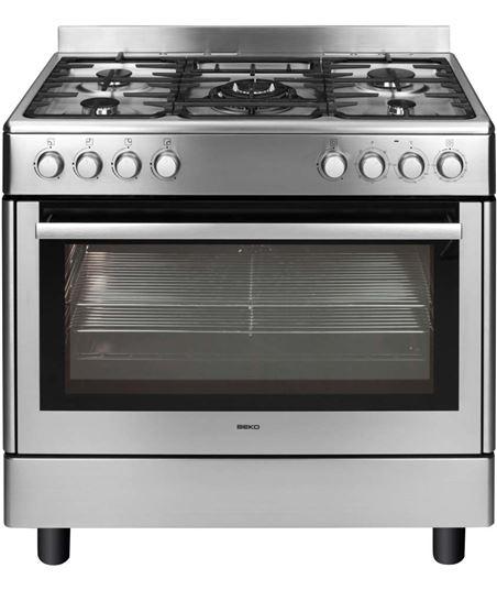 Beko cocina gas 4 fuegos inox GM15121DX