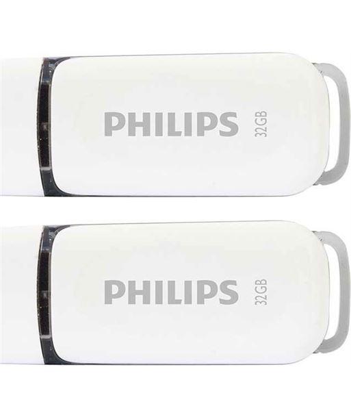 Pack 2 pendrives 2.0 Philips snow 32gb fm32fd70d - FM32FD70D JPEG