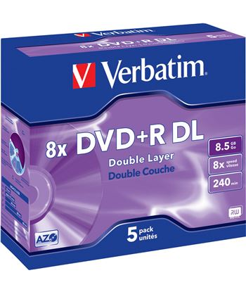Dvd+r Verbatim 8,5gb doble capa 43541
