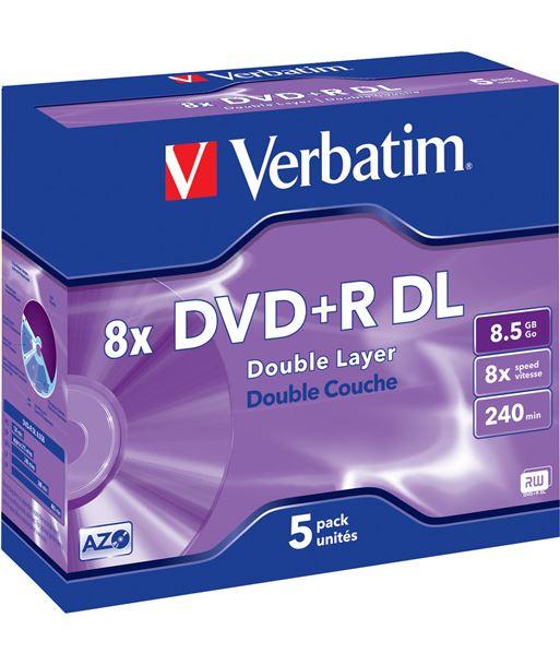 Dvd+r Verbatim 8,5gb doble capa VERDVDRDL Perifericos - 023942435402