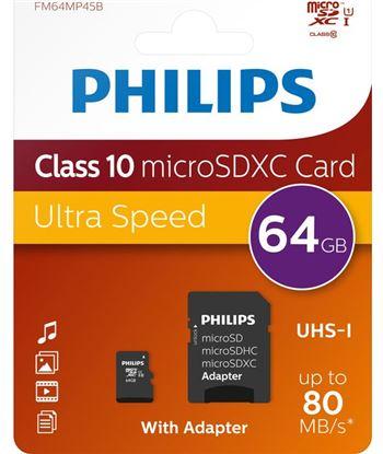 Philips FM64MP45B tarjeta de memoria micro sdhc phi - FM64MP45B