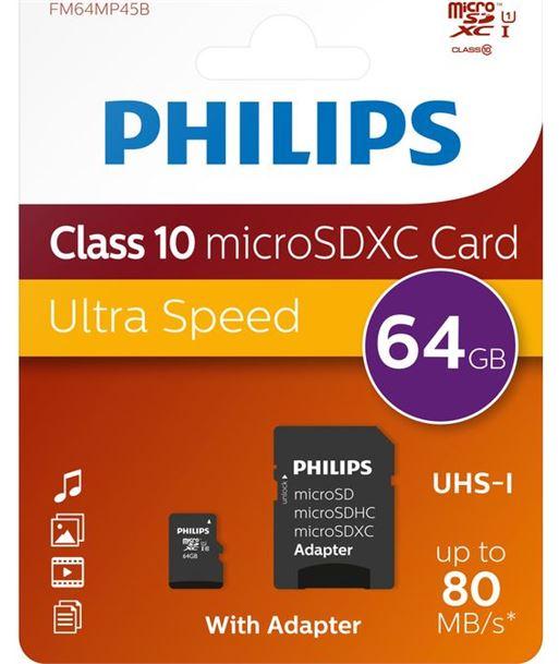 Philips tarjeta de memoria micro sdhc fm64mp45b PHIFM64MP45B - FM64MP45B