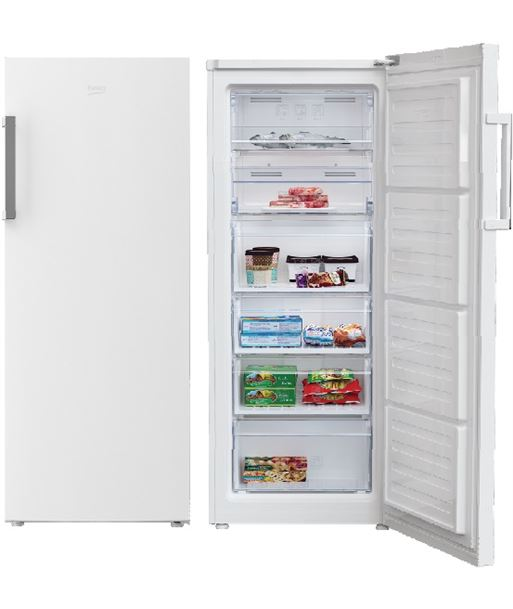 Beko congelador vertical no frost RFNE270K21W Congeladores - RFNE270K21W