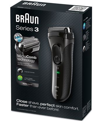 Braun afeitadora 3020 pack serie 3 3020SERIE3BLAC