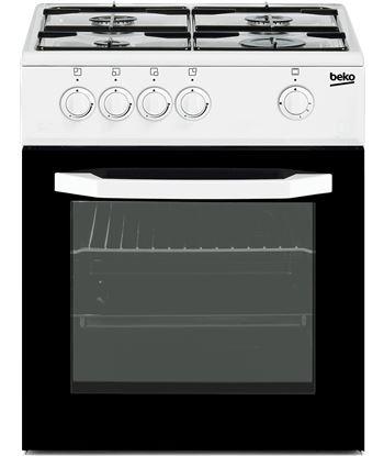 Beko cocina 4 fuegos blanca gas nat csg42010dwn