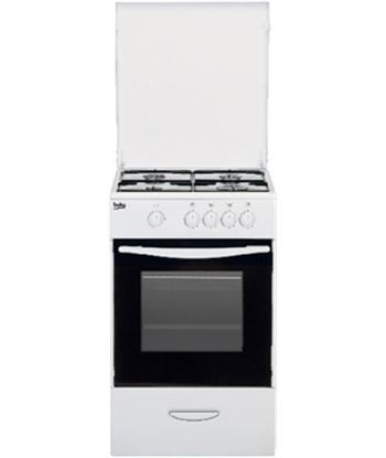 Beko cocina independiente 4 fuegos gas but blanca CSG42009DW