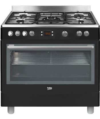 Beko cocina conjunto gm15310db gas butano negra
