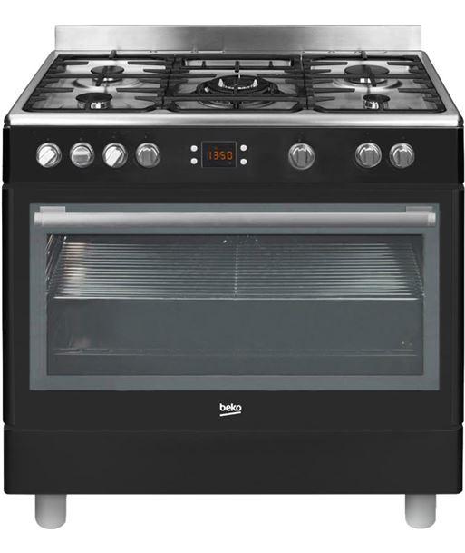 Beko cocina conjunto GM15310DB gas butano negra - GM15310DB