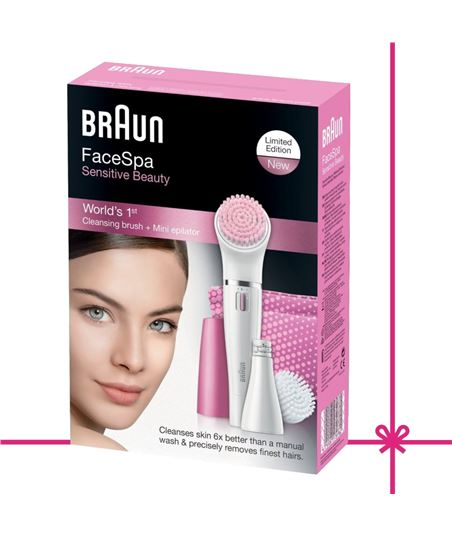 Braun depiladora cuidado facial sensitive 832s
