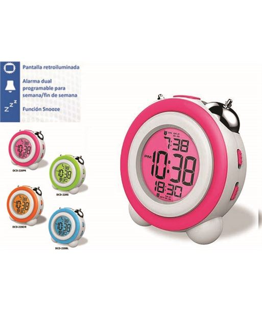 Daewoo DCD220PK reloj despertador daewo , pantalla retroil - DCD220PK