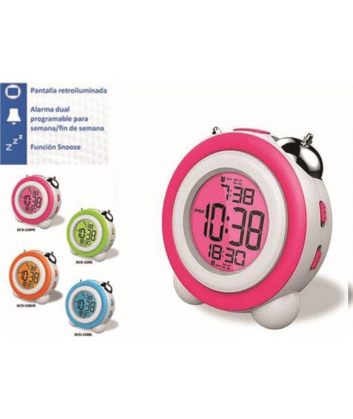 Daewoo reloj despertador daewo dcd220pk, pantalla retroil dbf129 - DCD220PK