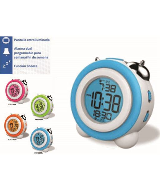 Daewoo reloj despertador daewo dcd220bl, pantalla retroil dbf128 - DCD220BL