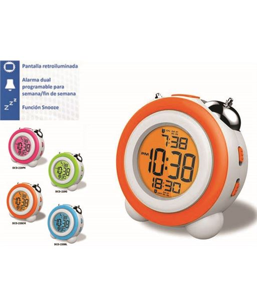 Daewoo reloj despertador daewo dcd220or, pantalla retroil daedbf130 - DCD220OR