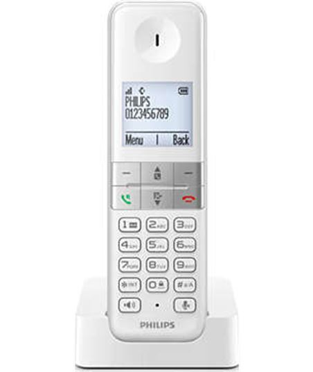 Telefono Philips d4501w23 single dúo libres negro, d4501w_23 - D4501W23
