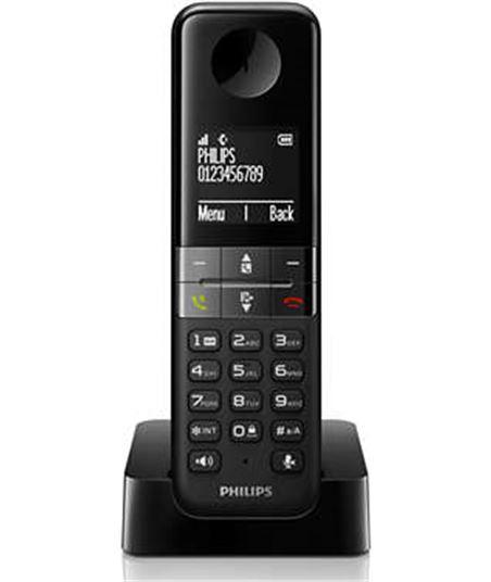 Telefono Philips D4501B23 dúo manos libres negro, - D4501B23
