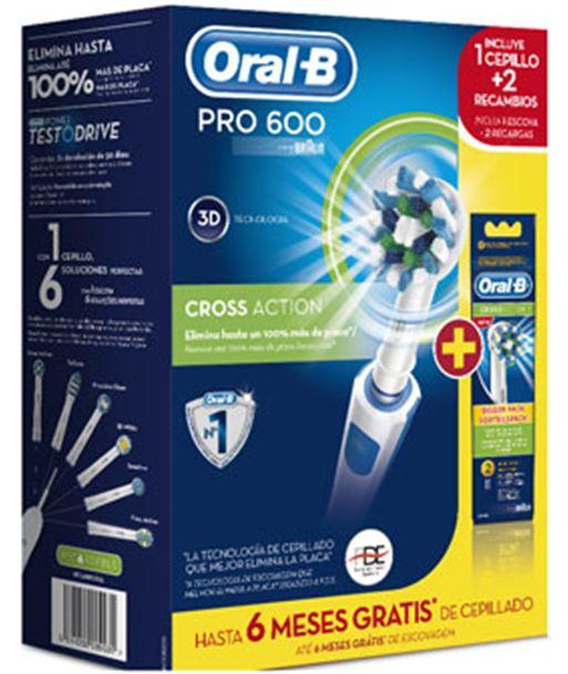 Braun cepillo dental packpro600 cross action + 2 PRO600CA+2RECA - 3014260089511